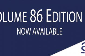 Volume 86 Edition 1 Publication Announcement Banner